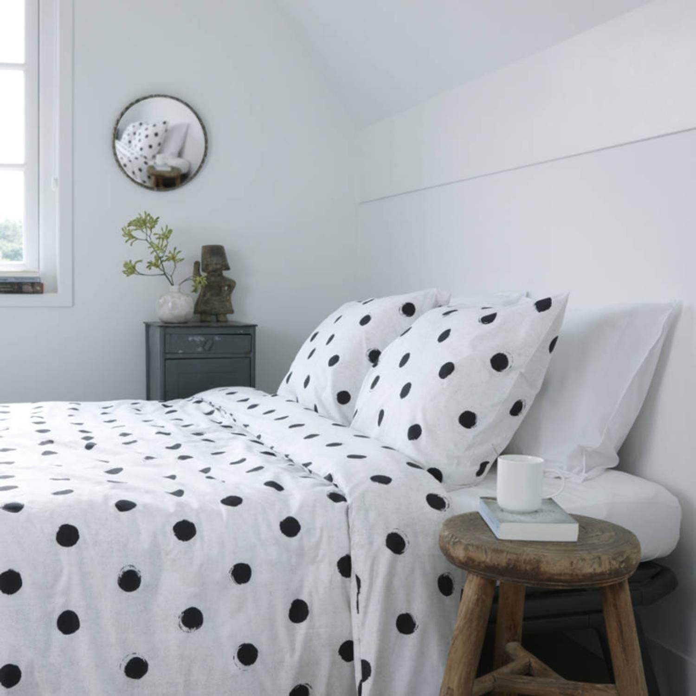 walra dekbedovertrek nina wit katoen 240 x 200 220 cm blokker. Black Bedroom Furniture Sets. Home Design Ideas