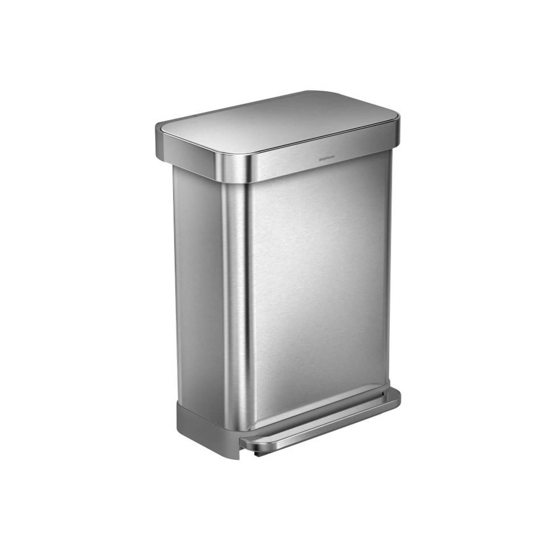 Image of Simplehuman Liner Pocket pedaalemmer - 55 L - RVS