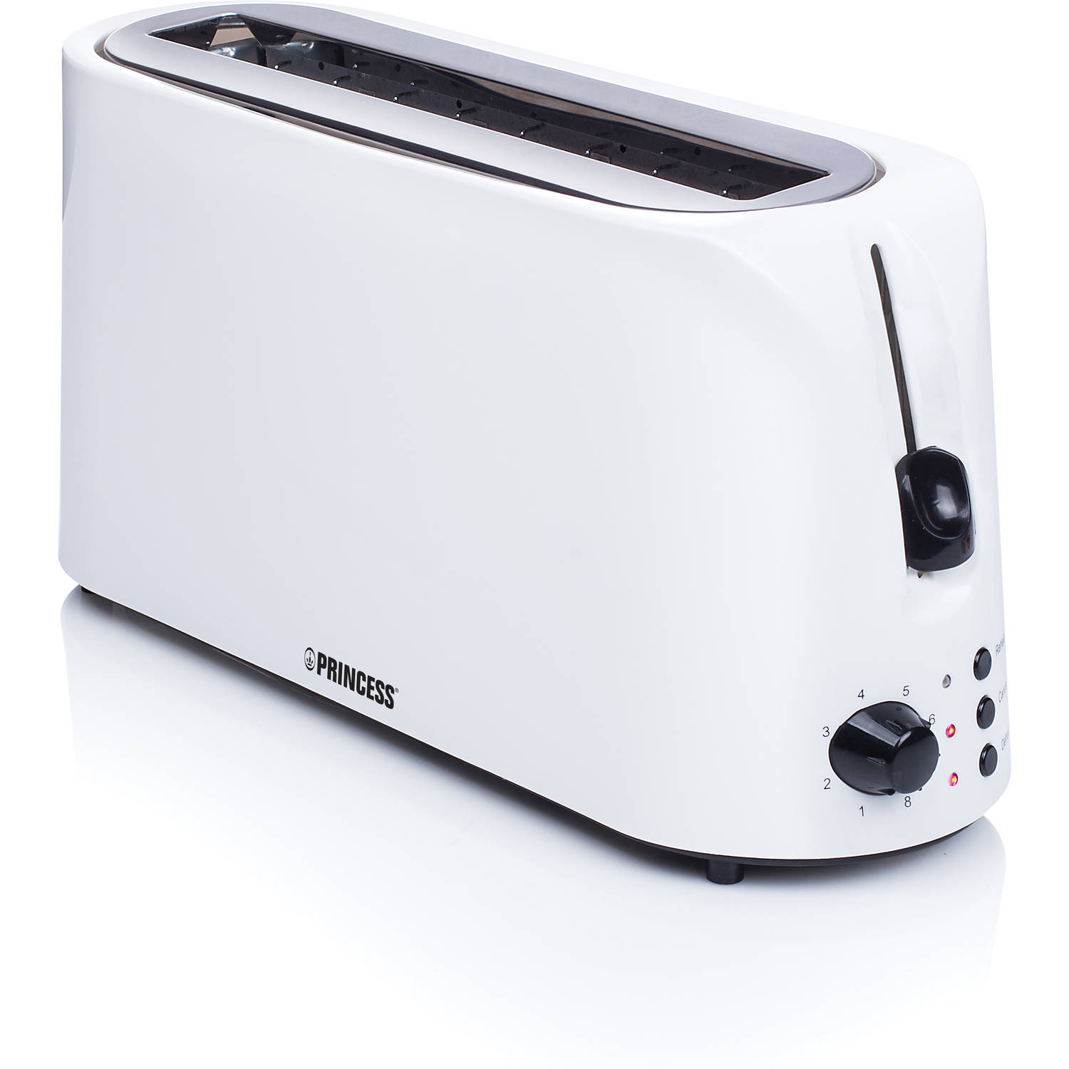 Long Slot Toaster Cool White