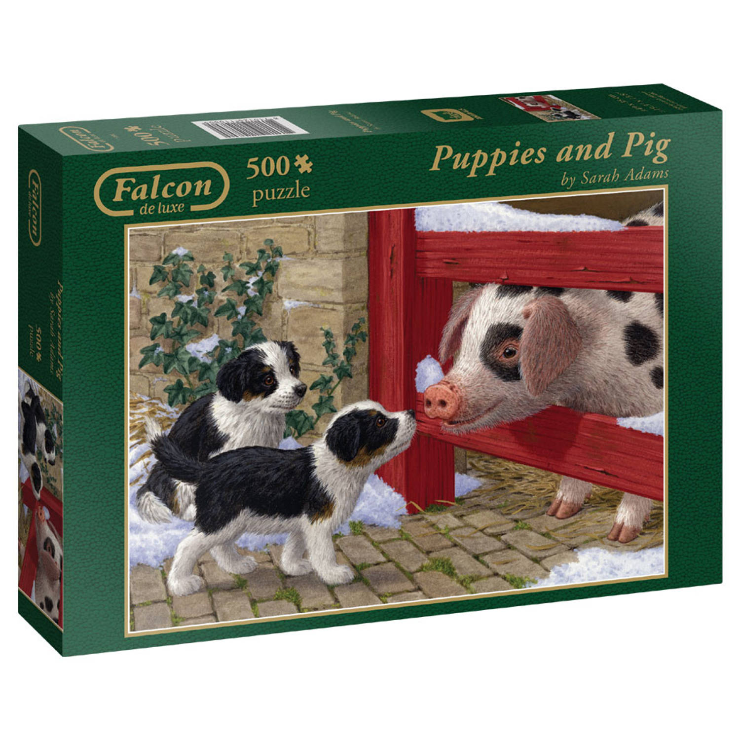 Falcon puzzel puppies and pig
