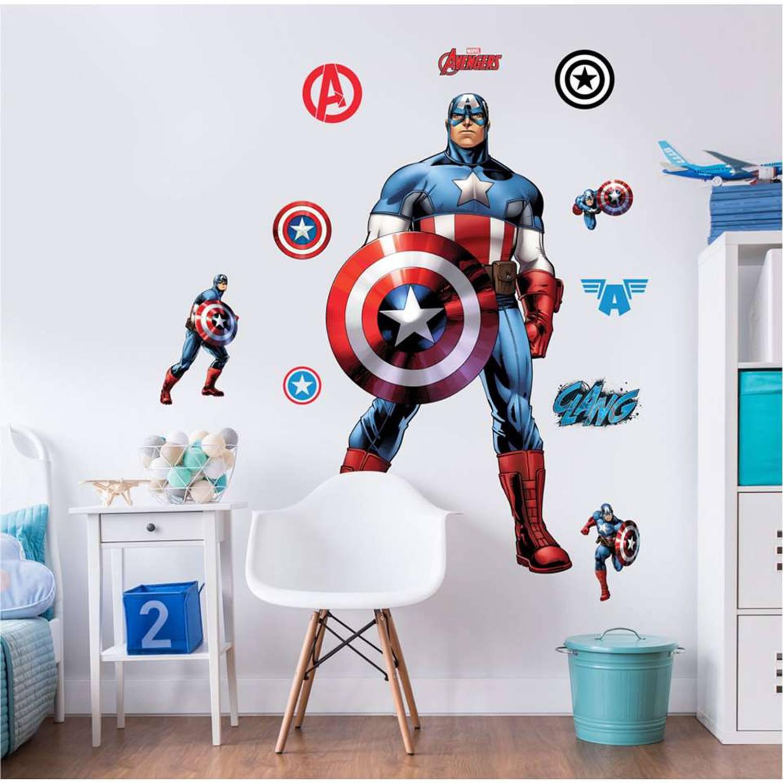 Captain America muurstickers - 120 cm