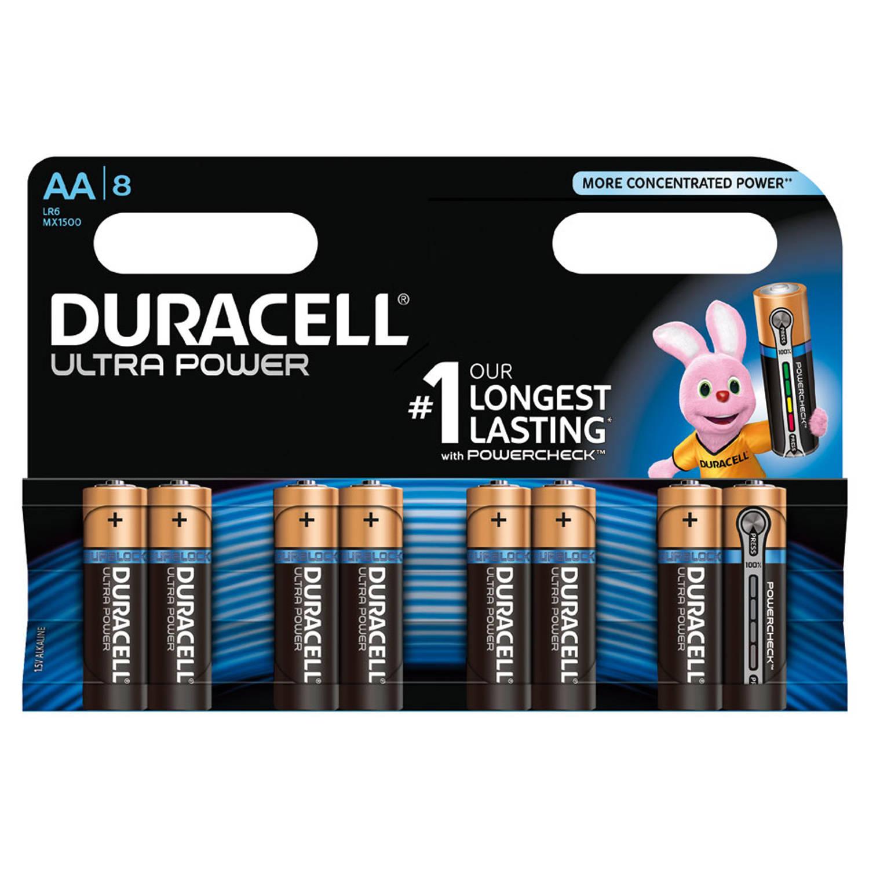 Duracell Ultra Power AA alkaline batterijen - 8 stuks