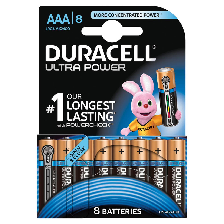 Duracell Ultra Power AAA alkaline batterijen - 8 stuks