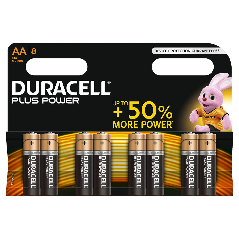 Duracell Plus Power AA alkaline batterijen - 8 stuks