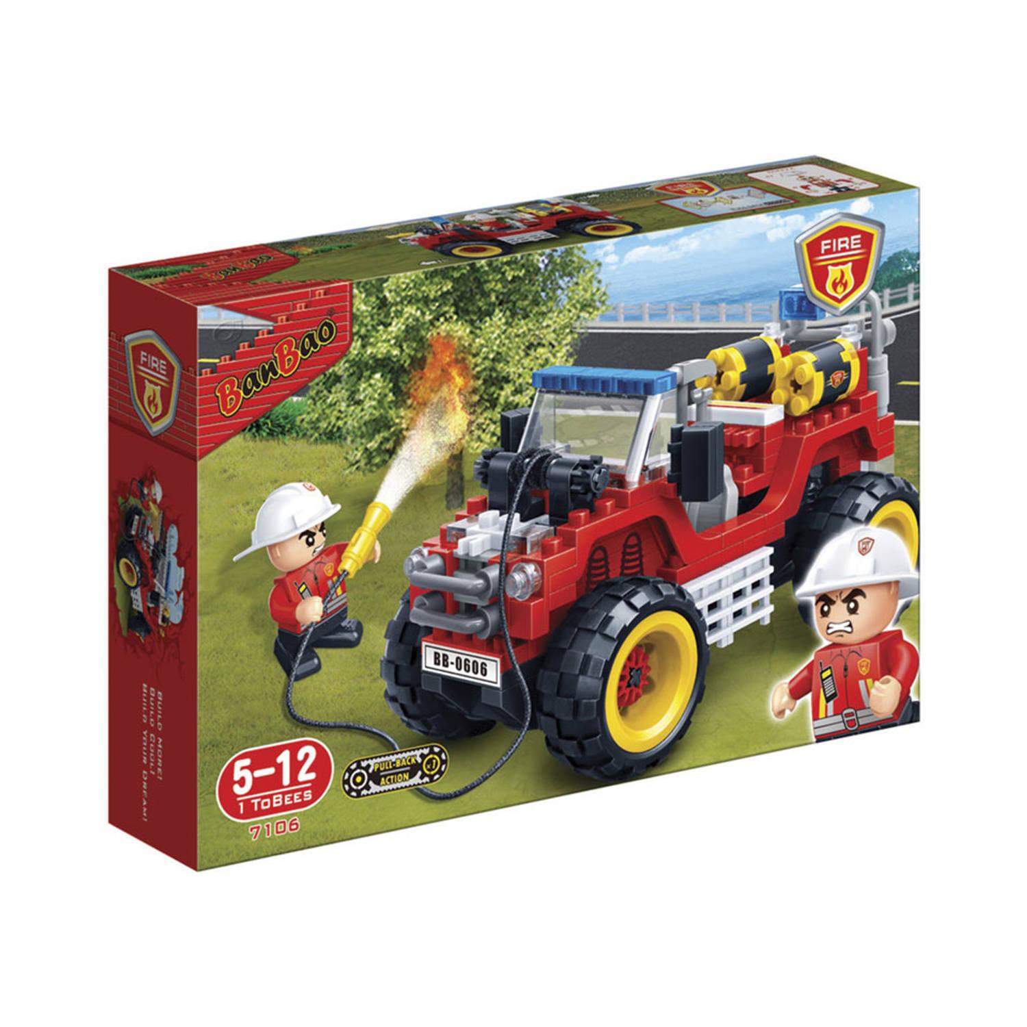 Afbeelding van BanBao brandweer jeep 7106