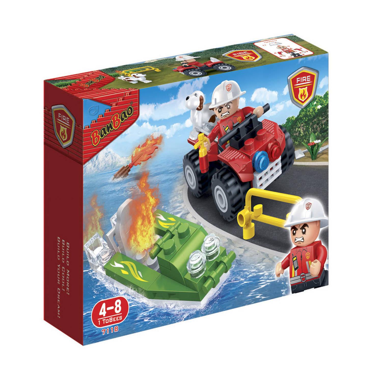 Afbeelding van BanBao brandweerauto en boot 7118