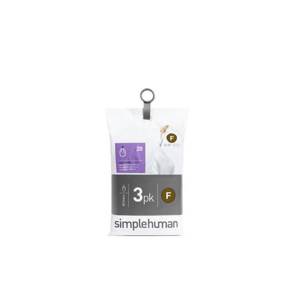 Simplehuman afvalzakken Code F 25 - L - 3 x 20 stuks