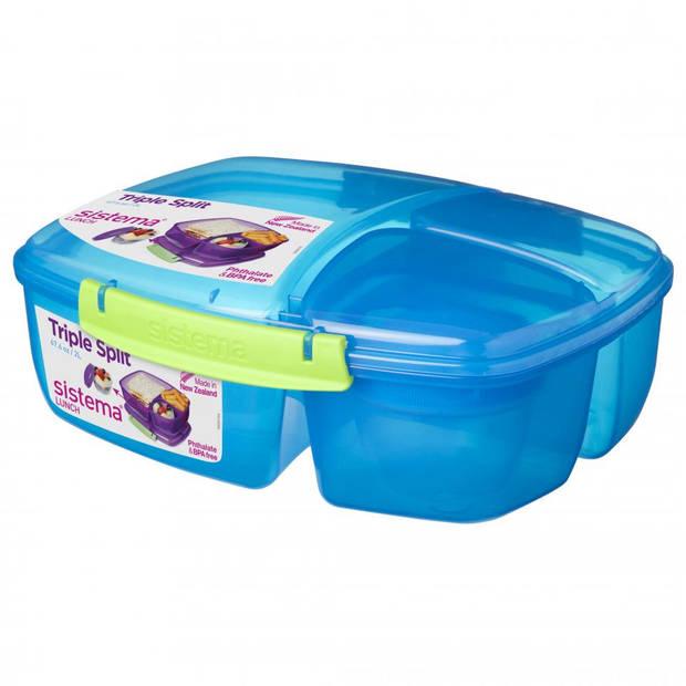 Sistema lunchbox Triple Split - blauw