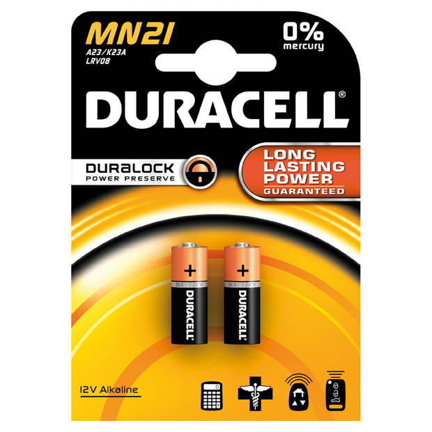 Duracell Specialty alkaline MN21 batterijen - 2 stuks