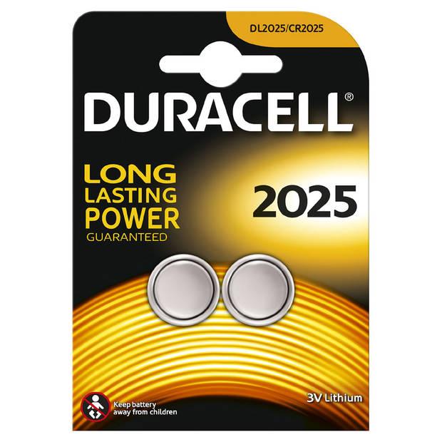 Duracell Specialty lithium knoopcelbatterij - CR2025 - 2 stuks