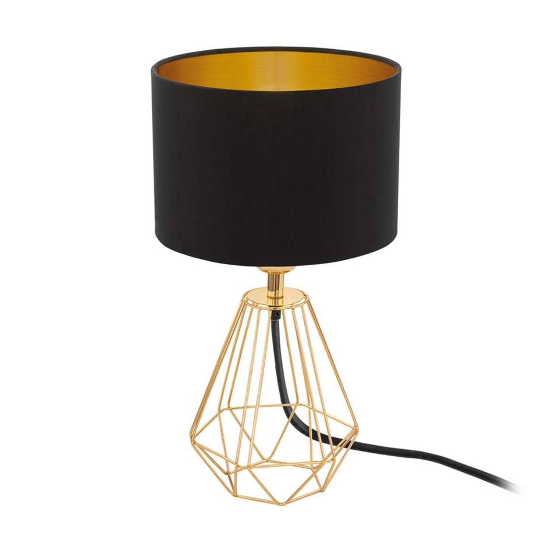 EGLO Carlton 2 tafellamp - zwart/goudkleur