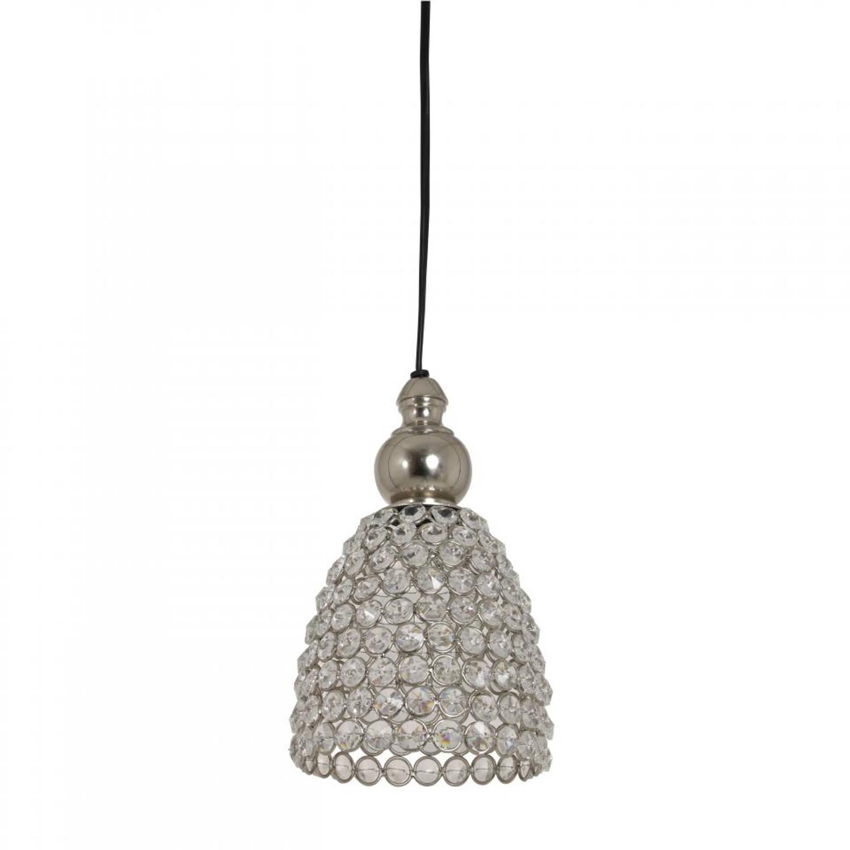 Light & Living Elene hanglamp - kristal - nikkel - Ø13 cm