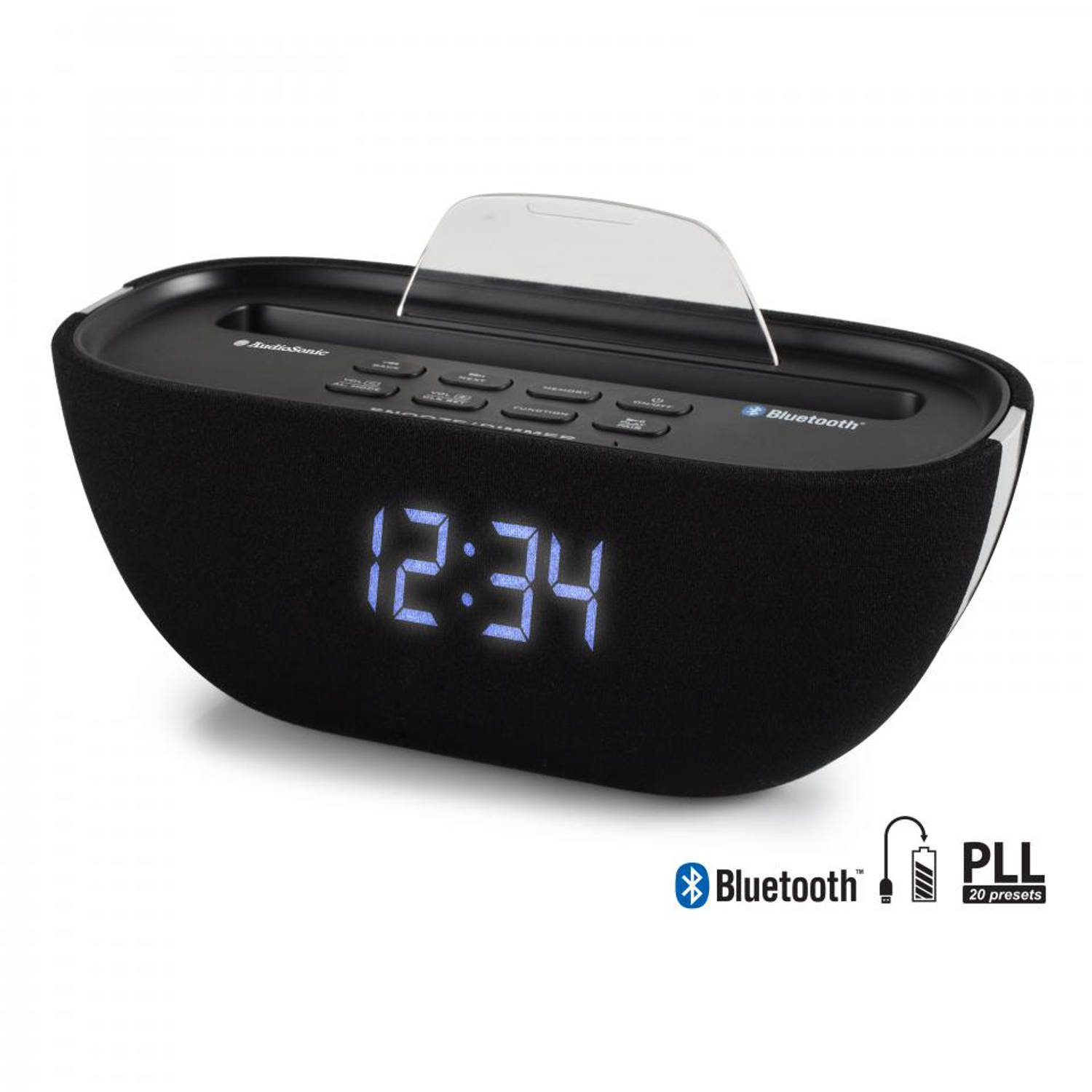 AudioSonic wekkerradio bluetooth CL-1462