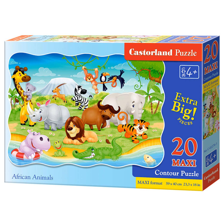 Castorland maxi puzzel Afrikaanse dieren - 20 stukjes