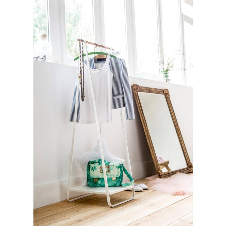 Compactor kledingrek met legplank - wit