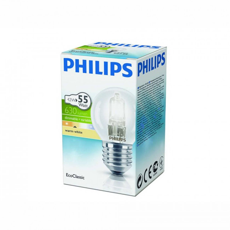 Philips EcoClassic kogellamp P45 230 V 42 W E27 warm wit