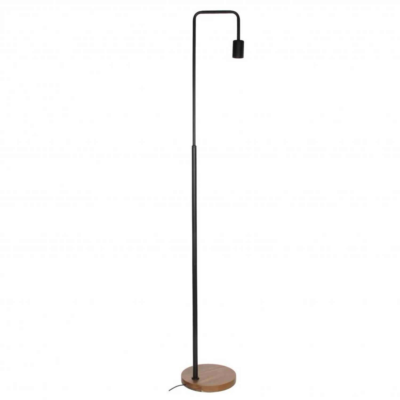 Mica Decorations vloerlamp Preston - metaal - zwart - 22 x 22 x 138 cm