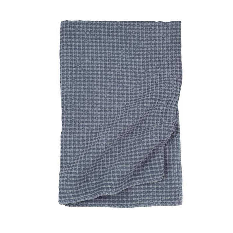 Walra Nils plaid - 100% katoen - 130x180 cm - Blauw
