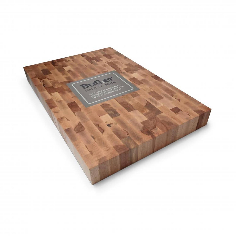 Butler hakblok - kops beukenhout - 60 x 40 x 6 cm