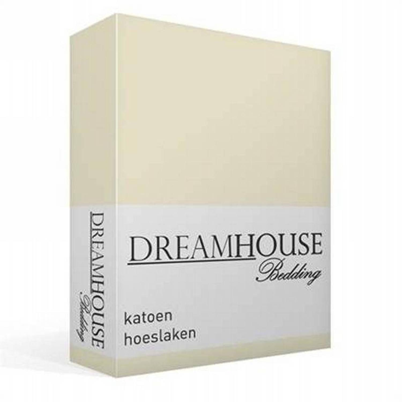 Dreamhouse Bedding Katoen Hoeslaken 100 Katoen 1 persoons 90x220 Cm Zand