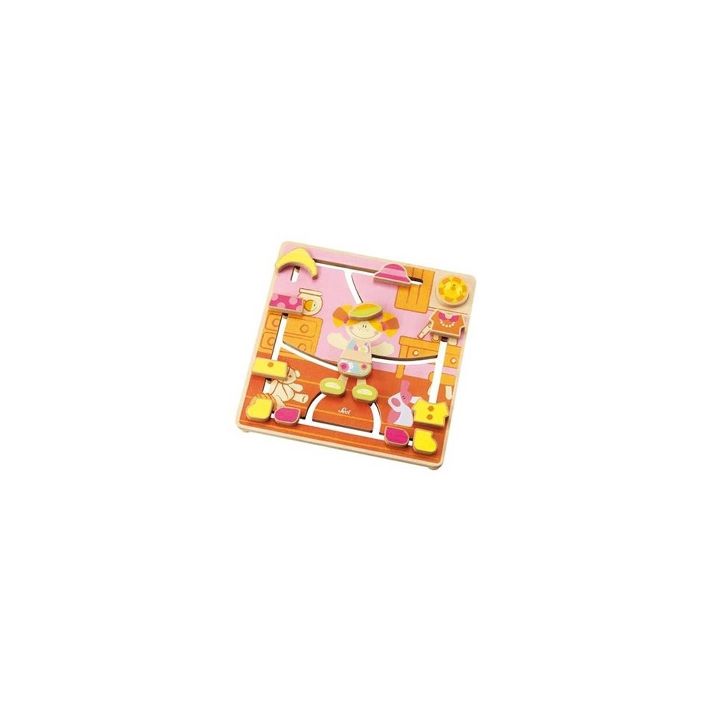 Sevi houten doolhofpuzzel Fashion 27 cm oranje