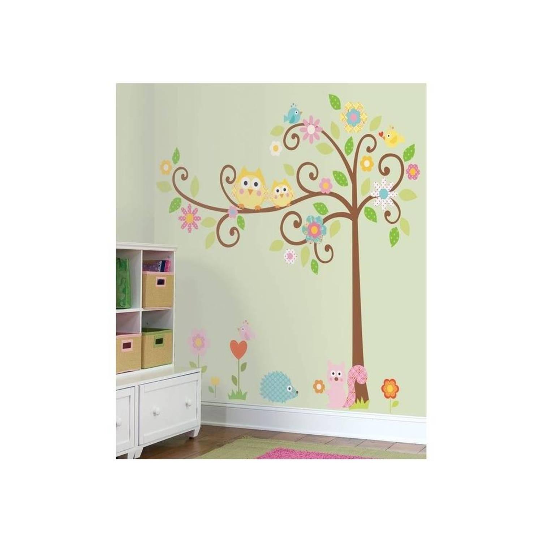 Roommates Muursticker Happi Scroll Tree 147,3 X 162,6 Cm