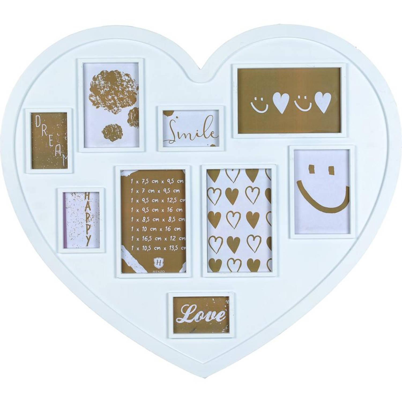 Henzo Heart Gallery fotolijst - 60 x 60 cm - 9 foto's - wit