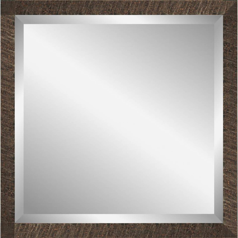 Henzo Driftwood spiegel - 40 x 40 cm - donker bruin