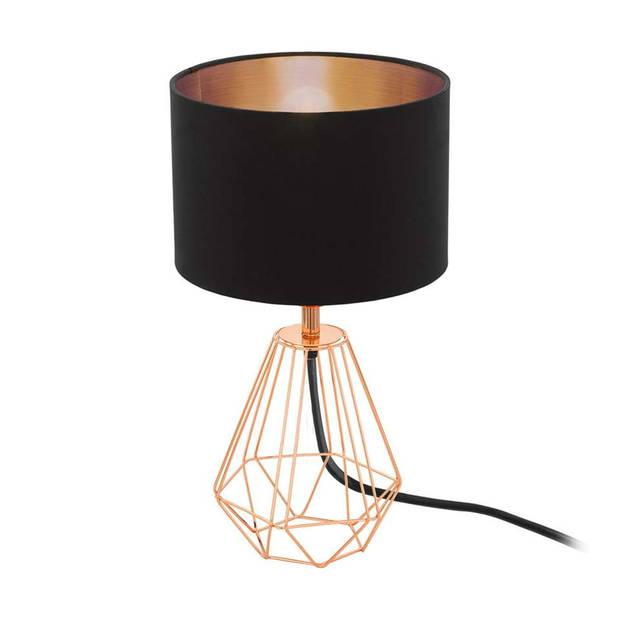 EGLO Carlton 2 tafellamp - zwart/koperkleur
