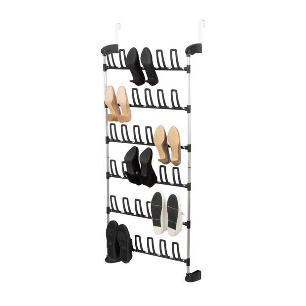 Compactor over-de deur schoenenrekje - 18 paar schoenen