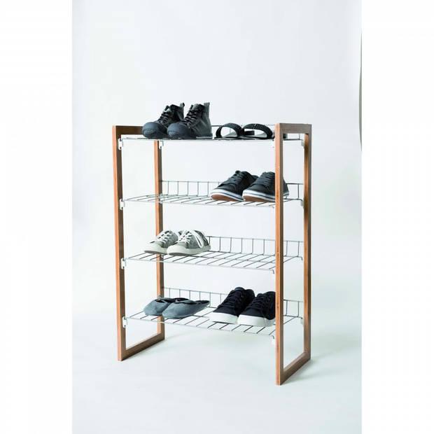 Compactor stapelbaar schoenenrek 'Preppy' - 4-laags