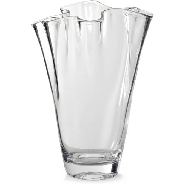 Waaier vaas - 16 x 25 cm - glas