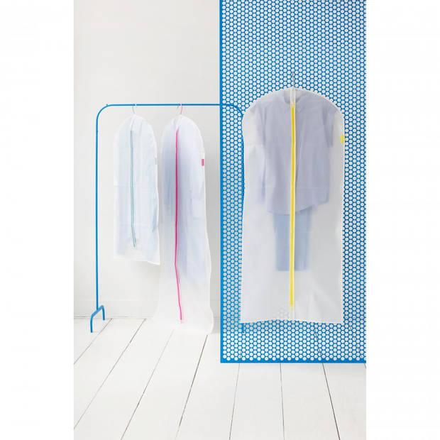 Brabantia kledinghoes L 60x135 cm - Transparant met Yellow - Set van 2