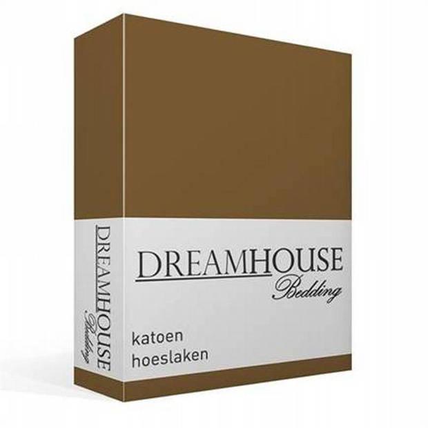 Dreamhouse bedding katoen hoeslaken - 1-persoons (90x220 cm)
