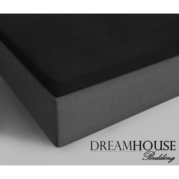 Dreamhouse Topper Hoeslaken Katoen Zwart-180 x 200 cm