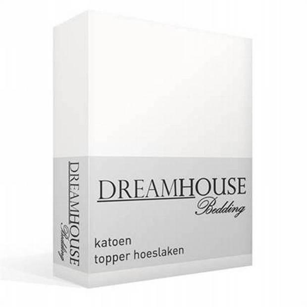 Dreamhouse Bedding katoen topper hoeslaken - Lits-jumeaux (160x200 cm)