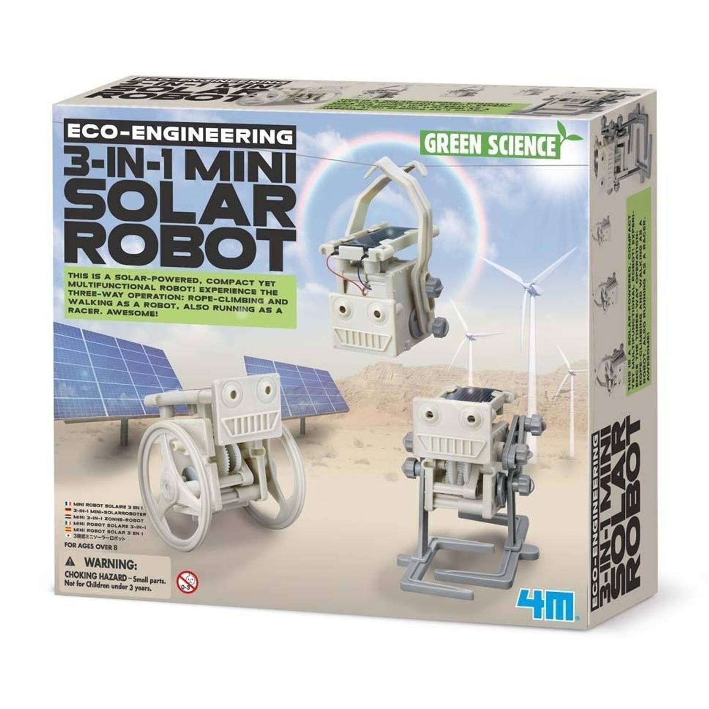 Afbeelding van 4M Eco Engineering 3 In 1 Mini Solar Robot