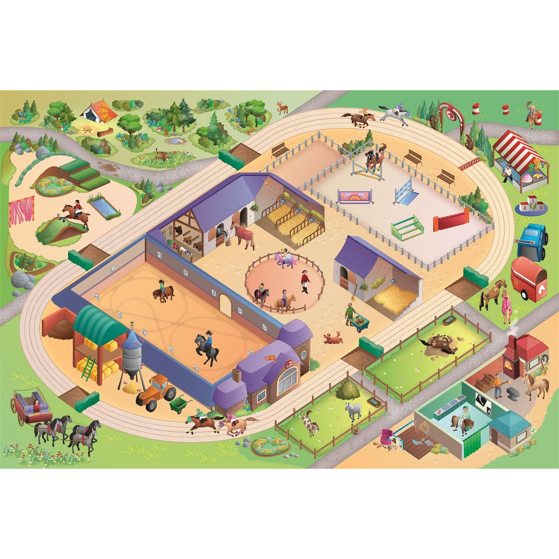 House of kids speelkleed horses 100 x 150 cm