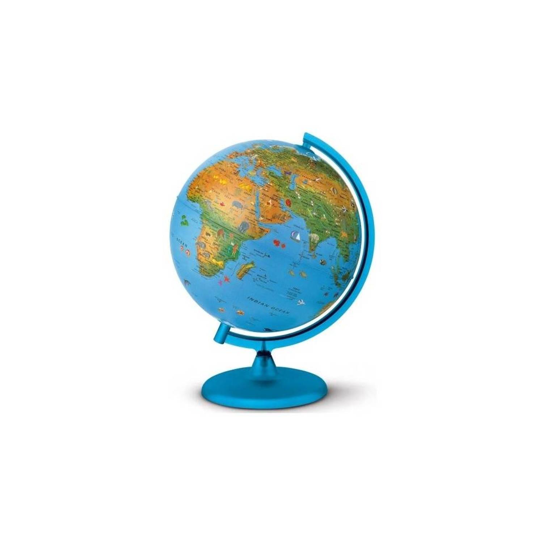 Wereldbol Arca Met Verlichting 25cm   Blokker