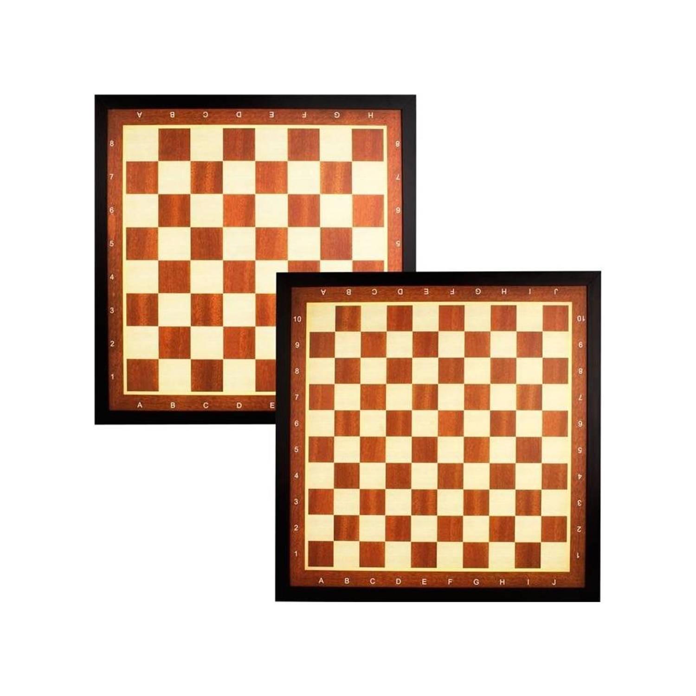 Afbeelding van Abbey Game dam en schaakbord met rand deluxe
