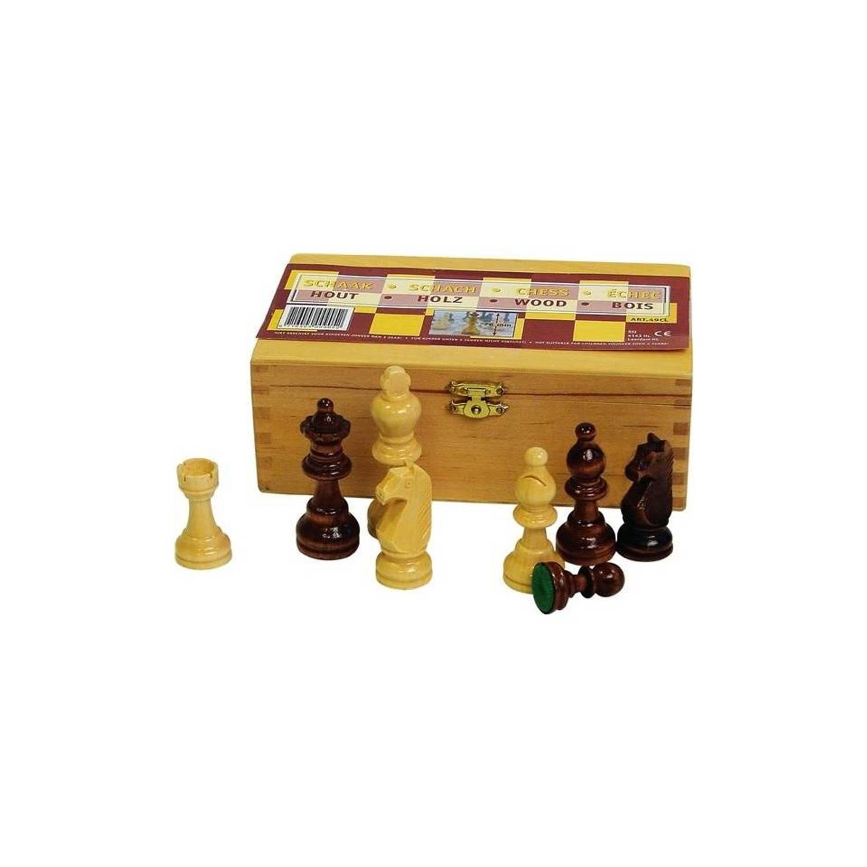 Afbeelding van Abbey Game schaakstukken - 8,5 cm - zwart