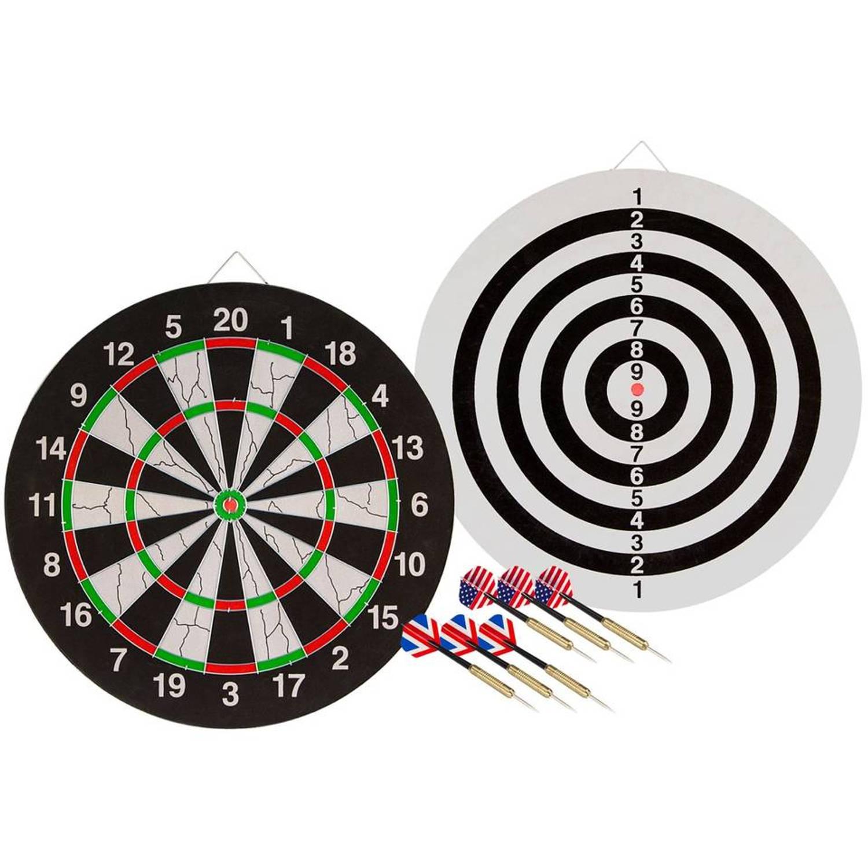 Afbeelding van Abbey Darts dartbord - zwart/wit