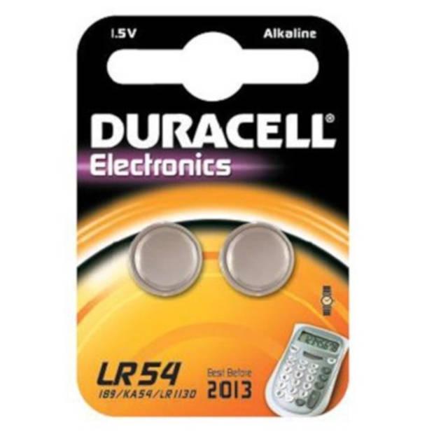 Duracell batterij V10GA/LR1130/LR54 1.5V alkaline 2 stuks