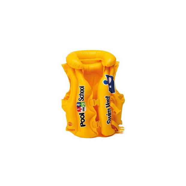 Intex opblaasbaar zwemvest Pool School junior geel
