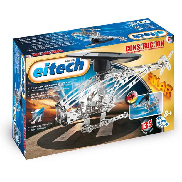 Eitech constructieset helikopter solar staal zilver 138-delig