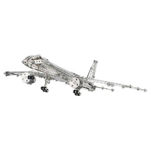 Eitech bouwset Vliegtuig staal zilver 570-delig