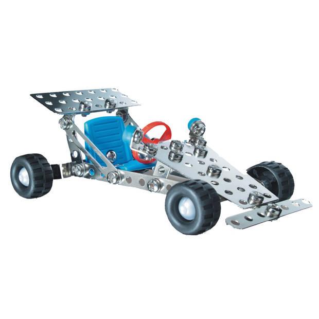 Eitech constructieset racewagen staal zilver 62-delig