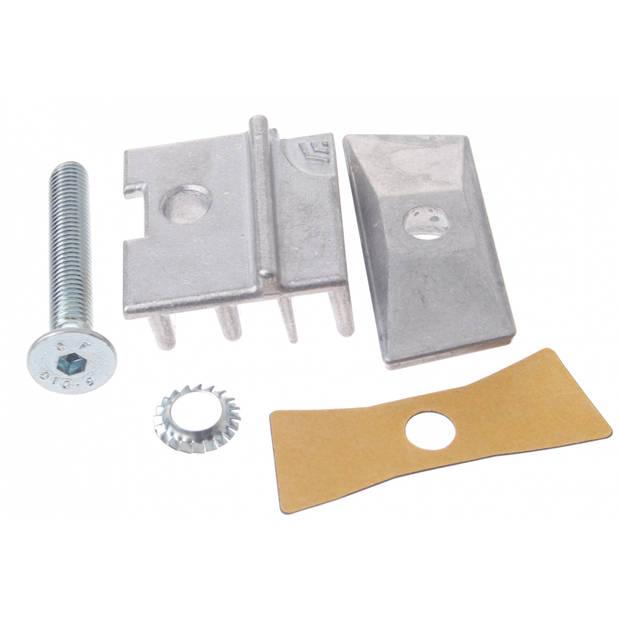 Hebie adapter set voor dubbele standaard aluminium