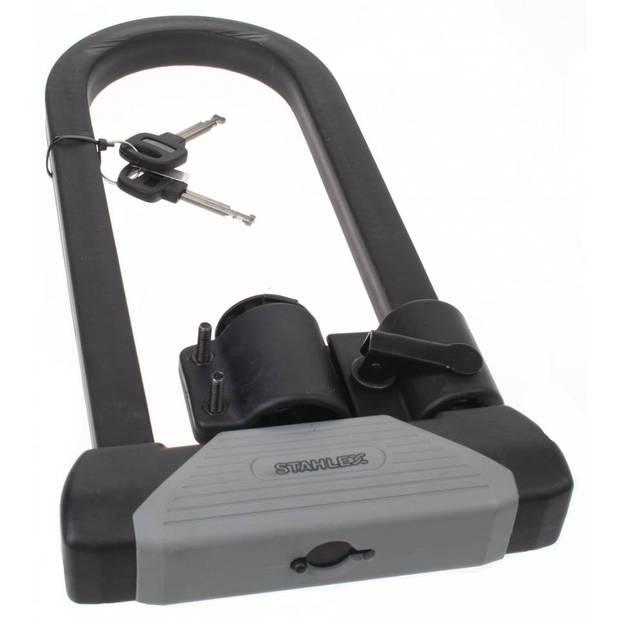Stahlex u-slot superlock 330 x 18 mm zwart