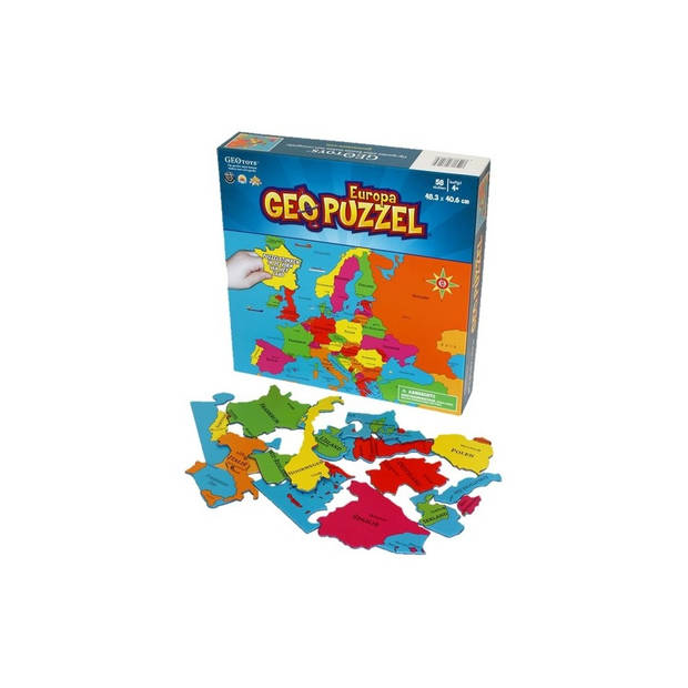 Geotoys Puzzel Europa - 58 stukjes